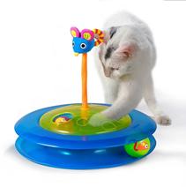 Petstages / Игрушка Петстейджес для кошек Трек с 2 мячиками