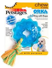 Заказать Petstages Mini Orka / Игрушка для собак Кольцо с канатом по цене 260 руб