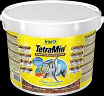 Tetra Min / Корм Тетра для всех видов рыб в виде хлопьев 10 л (ведро)