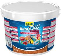 Tetra Pro Color Crisps / Корм Тетра-чипсы для улучшения окраса всех декоративных рыб 10 л (ведро)