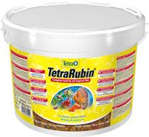 Tetra Rubin / Корм Тетра в хлопьях для улучшения окраса всех видов рыб 10 л (ведро)