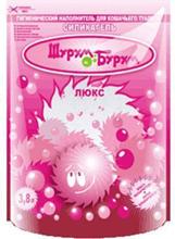 Шурум-Бурум Люкс (розовый) Наполнитель для кошачьего туалета Силикагелевый