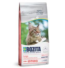 Bozita Large Wheat free Salmon / Сухой корм Бозита для молодых и взрослых кошек Крупных пород Без пшеницы Лосось