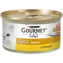 Gourmet Gold / Паштет Гурме Голд для кошек с Курицей (цена за упаковку)