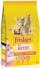 Friskies / Сухой корм Фрискис для Котят с Курицей молоком и овощами