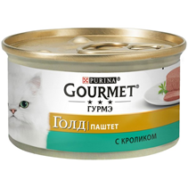 Gourmet Gold / Паштет Гурме Голд для кошек с Кроликом (цена за упаковку)