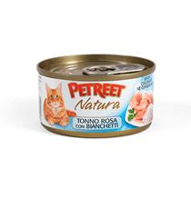 Petreet / Консервы Петрит для кошек Кусочки розового тунца с Анчоусами (цена за упаковку)
