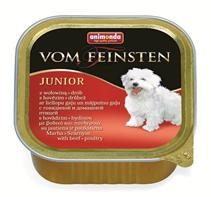 Animonda Vom Feinsten Junior / Консервы Анимонда для Щенков и юниоров с Говядиной и мясом домашней Птицы (цена за упаковку)