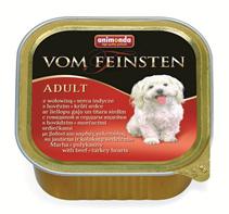 Animonda Vom Feinsten Classic / Консервы Анимонда для собак с Говядиной и Сердцем индейки (цена за упаковку)