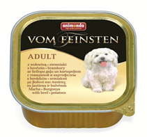 Animonda Vom Feinsten Menue / Консервы Анимонда для собак с Говядиной и Картофелем (цена за упаковку)
