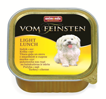 Animonda Vom Feinsten Light Lunch / Консервы Анимонда для собак Облегченное меню с Индейкой и Сыром (цена за упаковку)