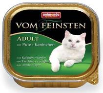 Animonda Vom Feinsten Adult / Консервы Анимонда для кошек с Индейкой и Кроликом (цена за упаковку)