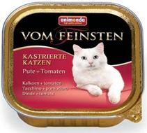 Animonda Vom Feinsten Сastrated / Консервы Анимонда для Стерилизованных кошек с Индейкой и Томатами (цена за упаковку)