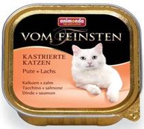Animonda Vom Feinsten Сastrated / Консервы Анимонда для Стерилизованных кошек с Индейкой и Лососем (цена за упаковку)