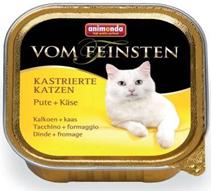 Animonda Vom Feinsten Сastrated / Консервы Анимонда для Стерилизованных кошек с Индейкой и Сыром (цена за упаковку)