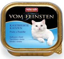 Animonda Vom Feinsten Сastrated / Консервы Анимонда для Стерилизованных кошек с Индейкой и Форелью (цена за упаковку)