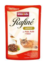 Animonda Rafine Soupe Adult / Паучи Анимонда для кошек коктейль из мяса Индейки, Телятины и Сыра (цена за упаковку)