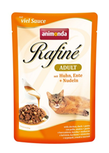 Animonda Rafine Soupe Adult / Паучи Анимонда для кошек коктейль из Курицы, Утки и Пасты (цена за упаковку)