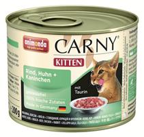 Animonda Carny Kitten / Консервы Анимонда для Котят с Говядиной, Курицей и Кроликом (цена за упаковку)