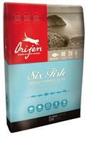 Orijen Cat Six Fish No Grain Hypoallergenic 85 / 15 / Сухой корм Ориджен Беззерновой для кошек Гипоаллергенный 6 Видов Рыбы