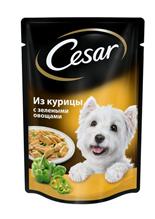 Заказать Cesar / Паучи для собак Курица и зелёные овощи Цена за упаковку по цене 720 руб