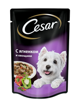Заказать Cesar / Паучи для собак Ягнёнок и овощи Цена за упаковку по цене 720 руб