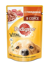 Заказать Pedigree / Паучи для взрослых собак Говядина в соусе Цена за упаковку по цене 440 руб