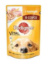 Заказать Pedigree / Паучи для взрослых собак Курица в соусе Цена за упаковку по цене 470 руб