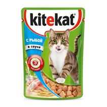 Kitekat / Паучи Китикет для кошек Рыба в соусе (цена за упаковку)