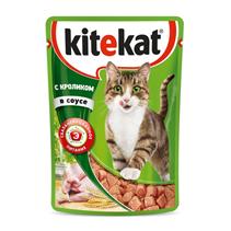 Kitekat / Паучи Китикет для кошек Кролик в соусе (цена за упаковку)