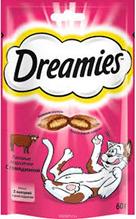 Dreamies / Лакомство Дримис для кошек Подушечки с Говядиной