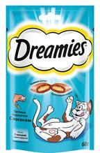 Dreamies / Лакомство Дримис для кошек Подушечки с Лососем