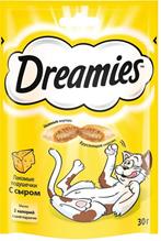 Dreamies / Лакомство Дримис для кошек Подушечки с Сыром