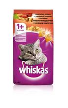 Whiskas Beef-Lamb-Rabbit / Сухой корм Вискас подушечки-паштет для взрослых кошек Говядина-Ягненок-Кролик