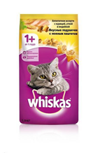 Whiskas Chicken-Duck-Turkey / Сухой корм Вискас подушечки-паштет для взрослых кошек Курица-Утка-Индейка
