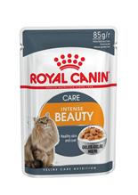 Заказать Royal Canin Intense Beauty Jelly / Влажный корм (Консервы-Паучи) Роял Канин Интенс Бьюти для кошек Красота шерсти в Желе (цена за упаковку) по цене 650 руб