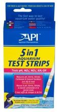 Api 5in1 Aquarium Test Strips / Тест-полоски Апи для экспресс тестов Аквариумной воды