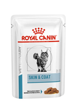 Royal Canin Skin & Coat / Ветеринарный влажный корм (Консервы-Паучи) Роял Канин Скин энд Коат для Кастрированных котов и Стерилизованных кошек с Чувствительной кожей (цена за упаковку)