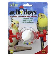 JW Activitoys Rattle Mirror / Игрушка для птиц Вращающееся зеркальце погремушка пластик