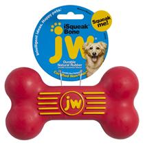 JW iSqueak Bone / Игрушка для собак Косточка с Пищалкой каучук