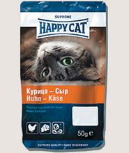 Заказать Happy Cat / Лакомство для кошек Лакомые Подушечки Курица и Сыр по цене 100 руб