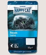 Заказать Happy Cat / Лакомство для кошек Лакомые Подушечки Лосось по цене 100 руб