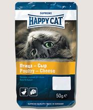 Заказать Happy Cat / Лакомство для кошек Лакомое Угощение Птица и Сыр по цене 100 руб