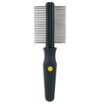 JW Grip Soft Double Sided Comb / Расческа для собак Двухсторонняя Частые и Редкие зубья