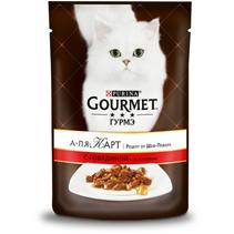 Gourmet A la Carte a la Jardiniere / Паучи Гурме А-ля Карт для кошек Говядина с морковью томатом и цуккини (цена за упаковку)