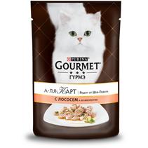 Gourmet A la Carte a la Florentine / Паучи Гурме А-ля Карт для кошек Лосось со шпинатом цуккини и зеленой фасолью (цена за упаковку)