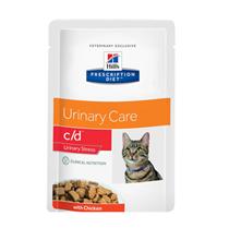 Hills Prescription Diet c / d Urinary Stress Chicken / Лечебные Паучи Хиллс c/d для кошек Mочекаменная болезнь Стресс при цистите Курица (цена за упаковку)