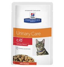 Hills Prescription Diet c\d Urinary Stress Chicken / Лечебные паучи Хиллс для кошек при Цистите Курица (цена за упаковку)