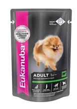 Eukanuba Dog Pouch Adult Beef / Влажный корм Паучи Эукануба для взрослых собак с Говядиной в соусе (цена за упаковку)