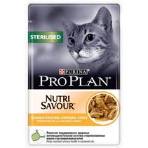 Purina Pro Plan Cat NutriSavour Sterilised Chicken / Паучи Пурина Про План для Стерилизованных кошек Курица в соусе (цена за упаковку)
